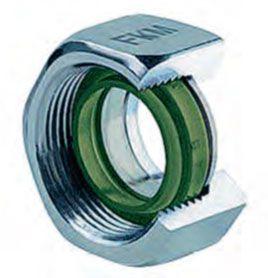 Уплотнитель из эластомера обеспечивает герметичность трубного соединения.