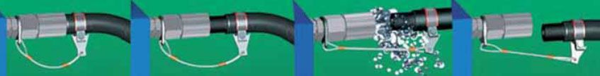 Одно из условий заказчика установка защитной ограничительной системы для рукавов работающих под давлением